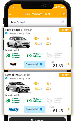 The Rentcars com Car Rental App