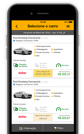 The Rentcars.com car hire App